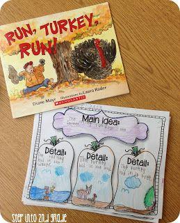 """Lesson Plan Ideas: """"Run, Turkey Run!"""" Thanksgiving themed sequencing lesson"""