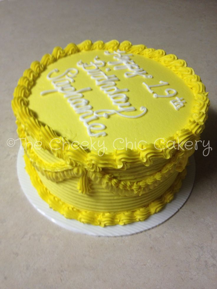 Yellow Birthday Cake Recipe Dishmaps