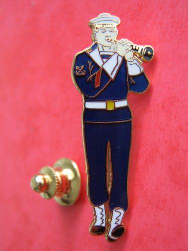 Pins-EGF-musique-militaire-LANN-BIHOUE-Marine-Nationale-BREST-signe-Segalen-Coll