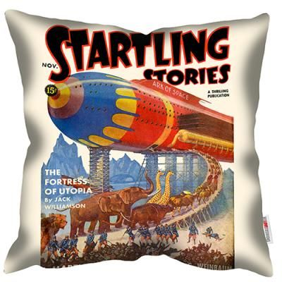 welovecushions - Ark - one of range of Pulp Fiction magazine covers from the 1920s- 1950s featuring gloriously vivid and melodramatic sci-fi designs