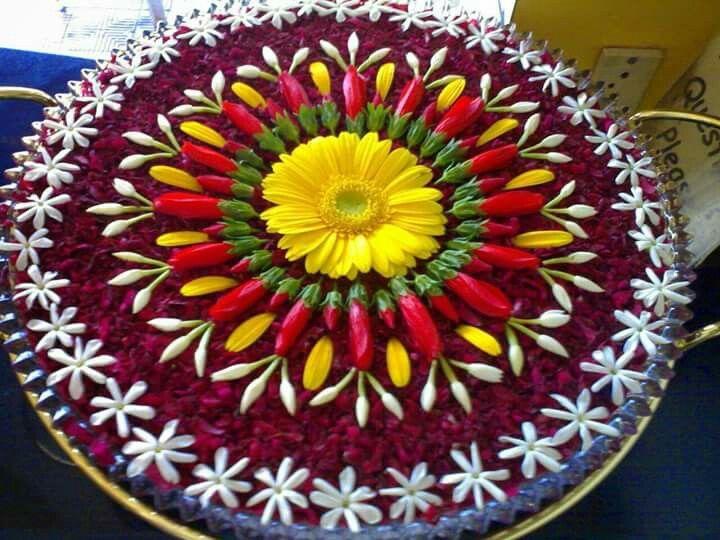 Flowers rangoli
