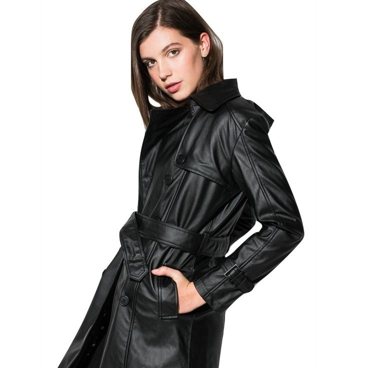 PREORDER 30% OFF IN AUS:'Irene' Vegan Leather Trench Coat