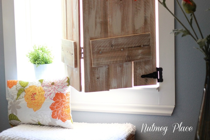 DIY Indoor Window Shutters:  Nutmeg Place