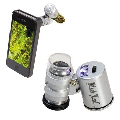 Black Leaf - LED Currency Detecting Pocket Microscope with iPhone 4/4S Attachment - 60x - OVERSTOCK CLEARANCE PRICE - http://honeycombbong.com/black-leaf-led-currency-detecting-pocket-microscope-with-iphone-4-4s-attachment-60x-overstock-clearance-price/