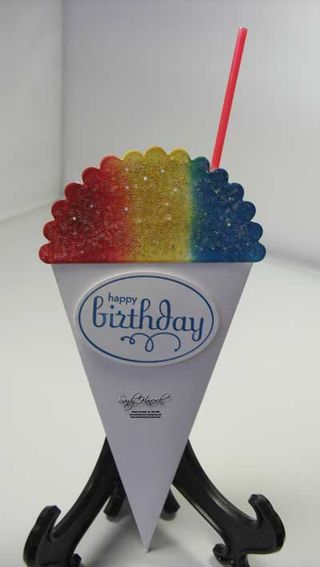 Happy Birthday Card~ snow cone card tutorial