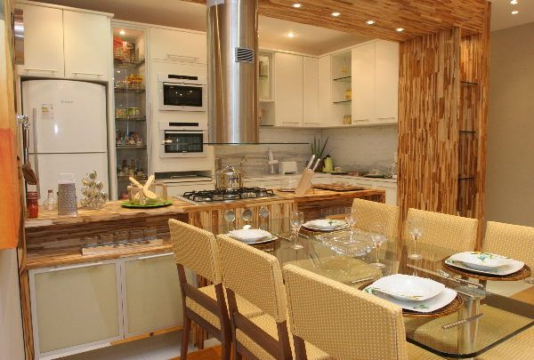 Cozinhas americanas em apartamentos pequenos dicas e sugestões | Cliquetando