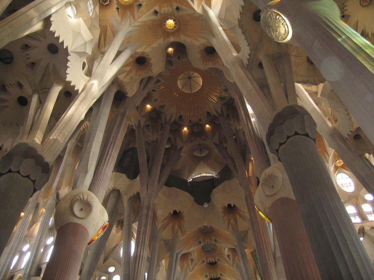 Dettaglio interni Sagrada Familia - Barcellona