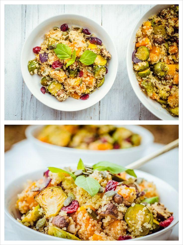 Detox Winter Vegetable Quinoa Bowl with Cranberries + Pumpkin Seeds ...