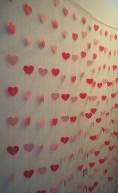 Cortina de coração para decoração - tamanho: 2x2 - <br>Temos disponiveis todas as cores e tamanhos!