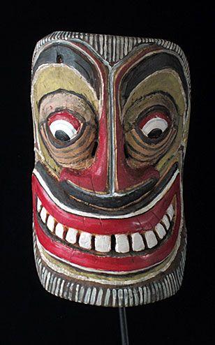 Sri Lankan Sinhalese folk art mask, Ceylon