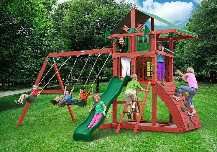 Shop Backyard Imagination for Wood Swing Sets to match every style & budget. Playsets by Cedar Summit, Backyard Discovery, Gorilla, & Big Backyard.