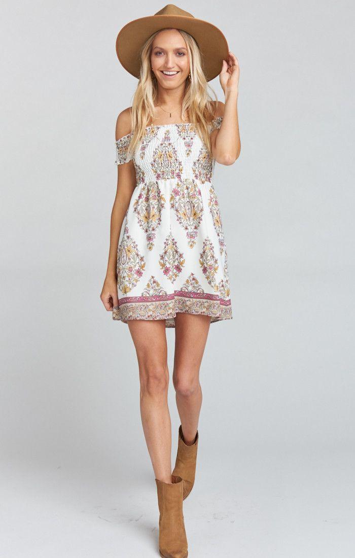 211d7d4b0 Dolly Smocked Dress ~ Flower Shower Gauze