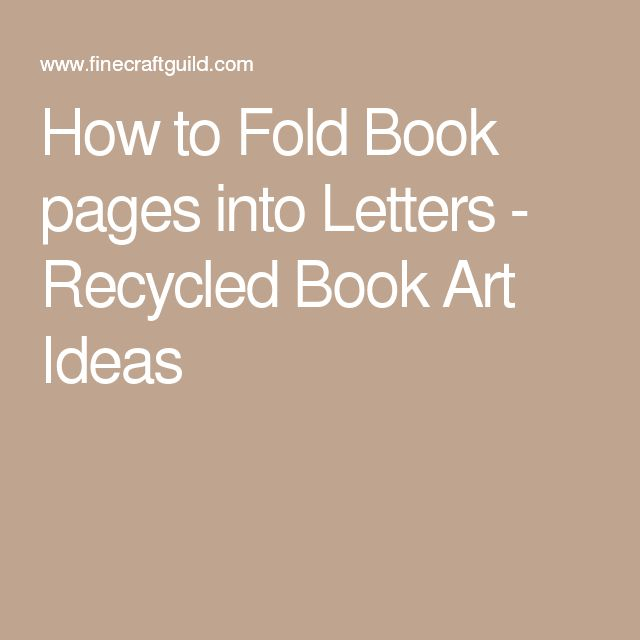 how to make folded book art letters