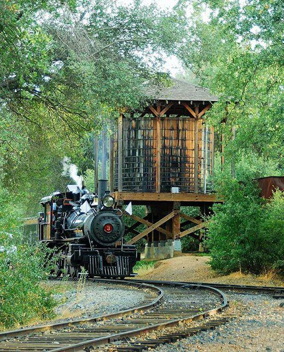 Railtown 1897 State Historic Park in Jamestown, CA. #railroad #trains