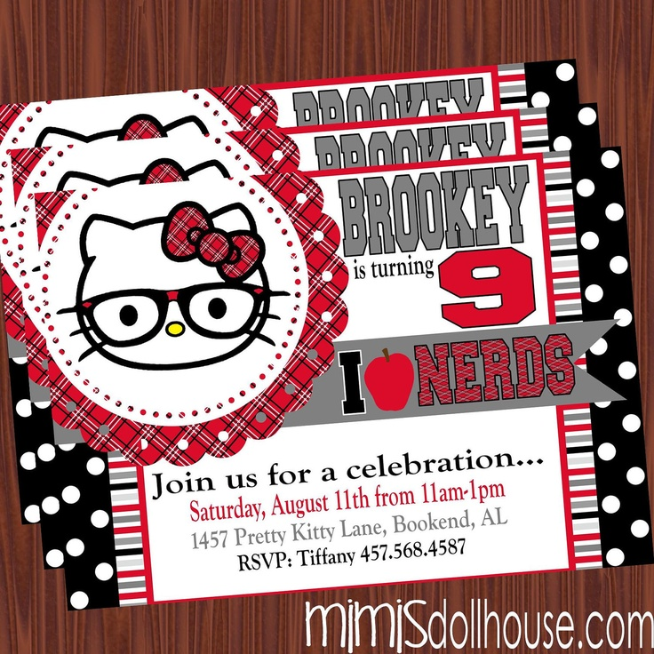 181 best Hello kitty party images – Hello Kitty Birthday Party Invitations Printable