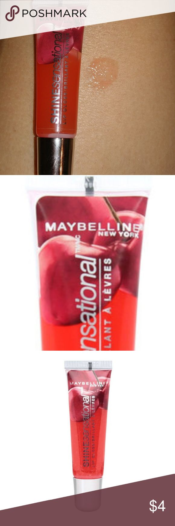 Maybelline New York Shinesensational Lip Gloss Luscious, glassy, glossy and yummy.  Luscious shine, delectable feel.  Comfortable, non-sticky, moisturizing, high-shine formula.  Apply alone or over your favorite lip color. Mix and match different shades to create your own flavor and fragrance.  .38 oz.  Made in USA!  # 75 cherry kiss Maybelline Makeup Lip Balm & Gloss