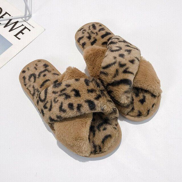 Zapatillas De Casa De Invierno Mujer Zapatos Cálidos De Piel Sintética Pantuflas Ebay Zapatillas De Casa Zapatillas De Invierno Zapatos De Trabajo