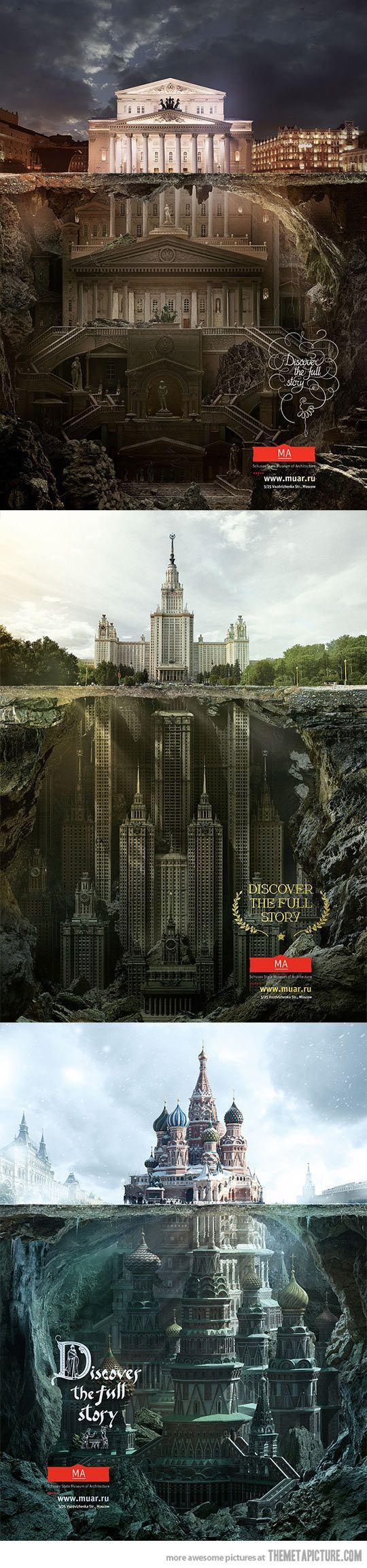Secret structures under iconic buildings…