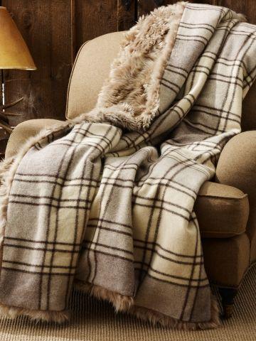 copy this throw idea..alpine lodge shearling blanket ralph lauren home throws; ralphlauren.com