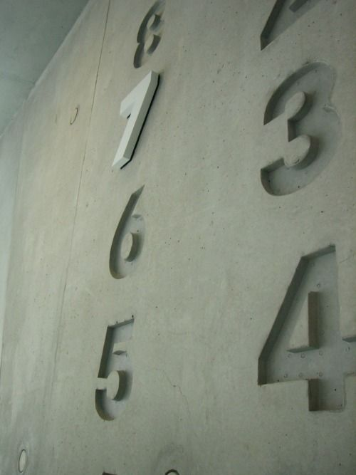 Level numbering in the Mercedes-Benz Museum in Stuttgart/Germany