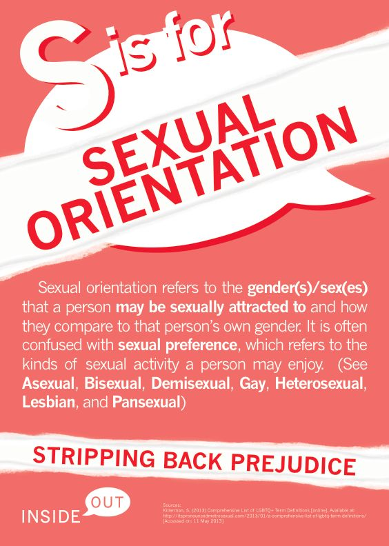 S is for Sexual Orientation