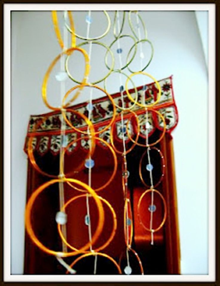 Bangle curtain dividers me you pinterest curtain for Decoration items made at home
