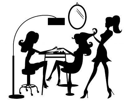 Adhesivo de vinilo decoración interior de peluquerías Salón de Belleza04864