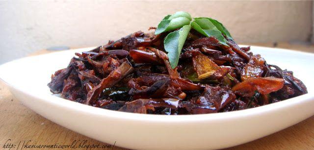My Cookingdom: Sri Lankan Fried Eggplant Curry