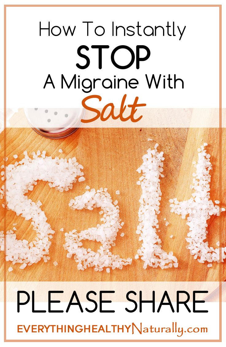 How To Instantly Stop A Migraine With Salt  ((hmmm...well it's worth a try next time I have one00