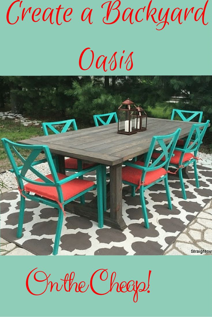 Diy painted patio furniture - Learn To Create A Diy Patio Table Then Style It Using Inexpensive Easy To Find Accessories
