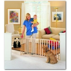 """North States Extra-Wide Swing Gate Fits Openings 57"""" - 103"""" NS4649    Maybe to Benny?Wide Swings, Extra Wide, Swings Gates, Extra Widding Swings, Baby, Wooden Swings, Open Swings, North States, Extrawid Swings"""