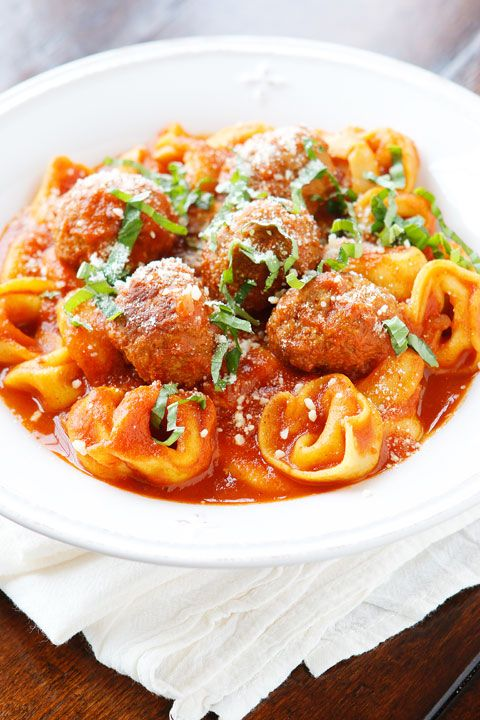 Italian Meatball Tortellini. I keep the ingredients for this on hand at ALL times. This is seriously the best 4-ingredient, quick and easy, family-friendly meal when you need something everyone will eat and FAST!