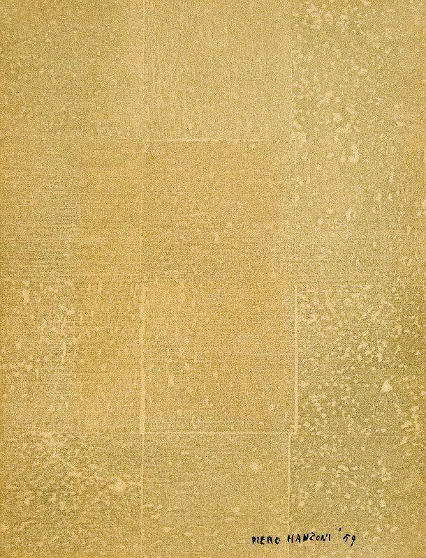 Piero Manzoni (Italian, 1933-1963), Effects of matter, 1959. Monotype on beige velour paper, 22.6 x 17.3cm.