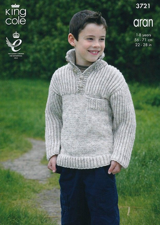 Cardigans and Sweaters in King Cole Aran (3721) | Deramores