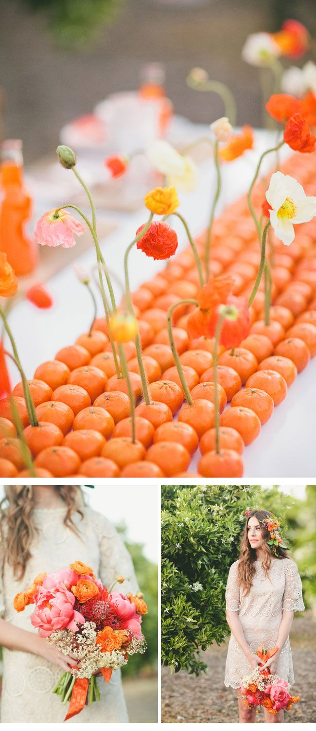 orange #fruit #themed #wedding