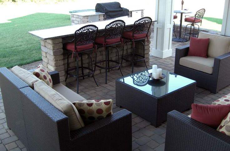 Paver patio designs with bar patios columbus ohio