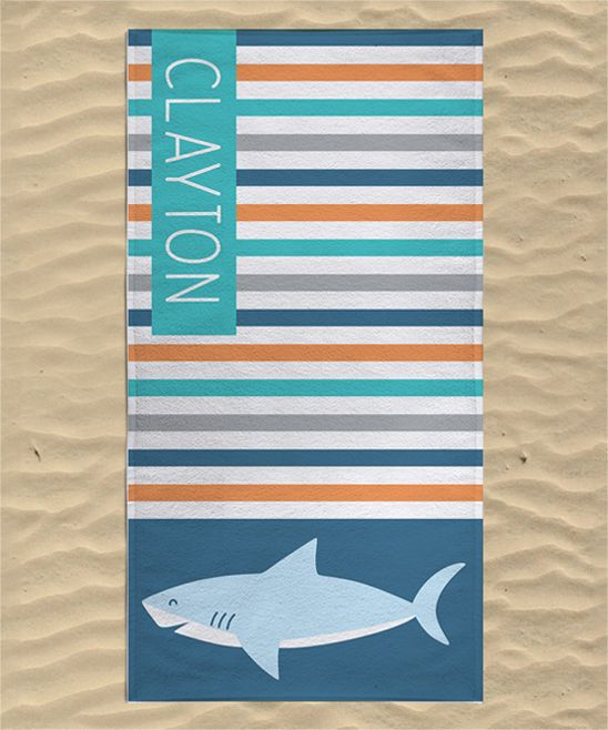 Shark Personalized Towel