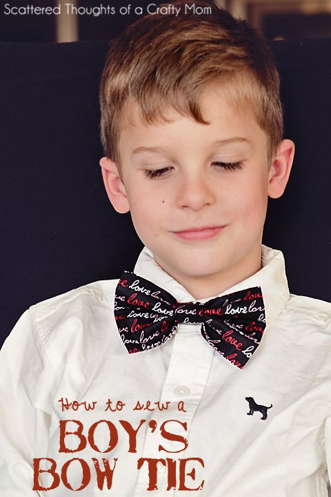 This will be so cute w/ St Patrick's day Fabric!  How to make a boys bow tie.
