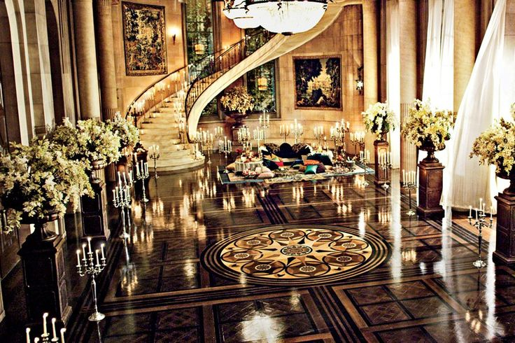 Jay Gatsby's opulent ballroom as featured in the latest issue of Architectural Digest. #TheGreatGatsby