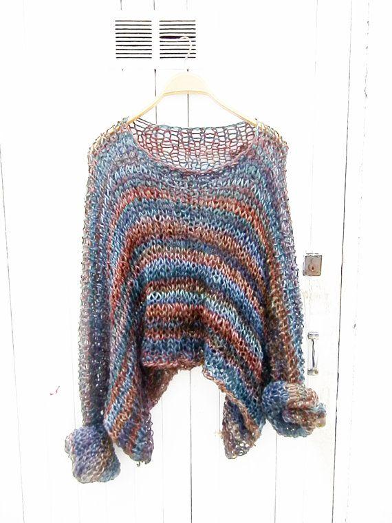 Sweater Womens Sweater Wool Sweater Multicolor by armarioenruinas
