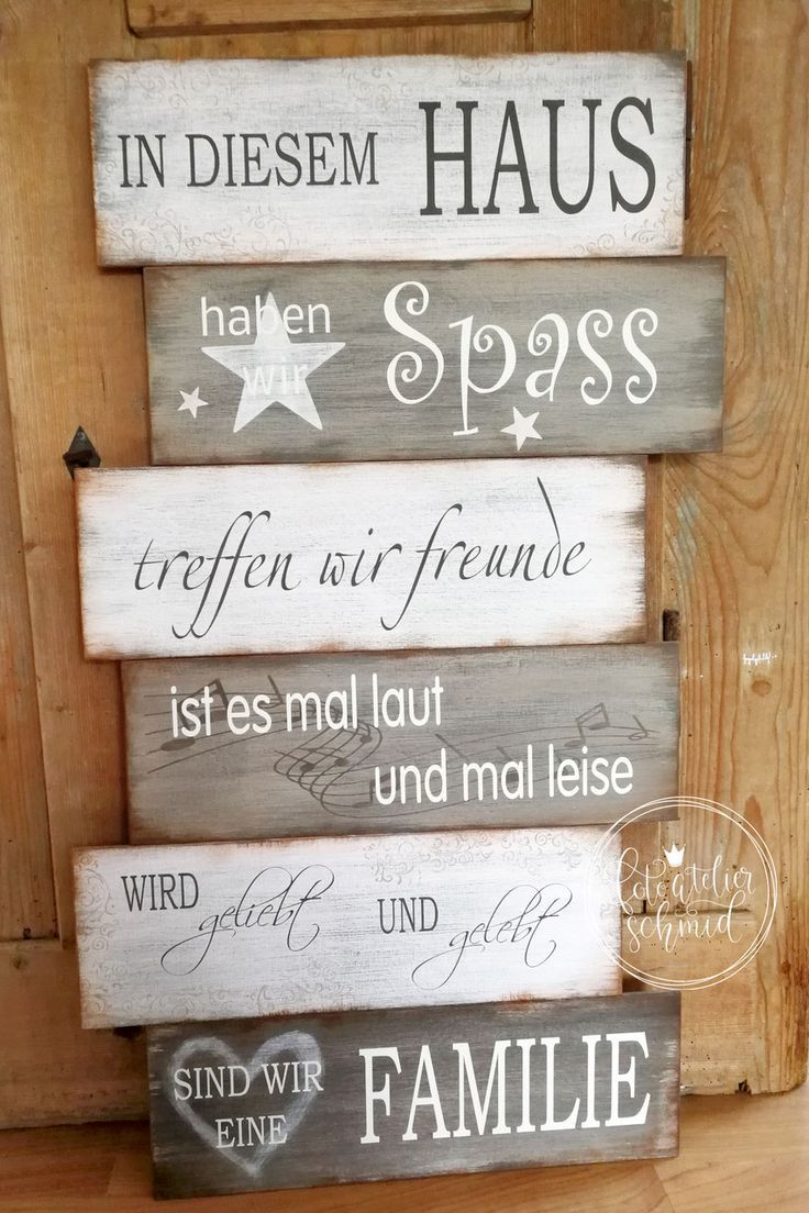 Schilder aus Holz / Metall – foto atelier schmid …