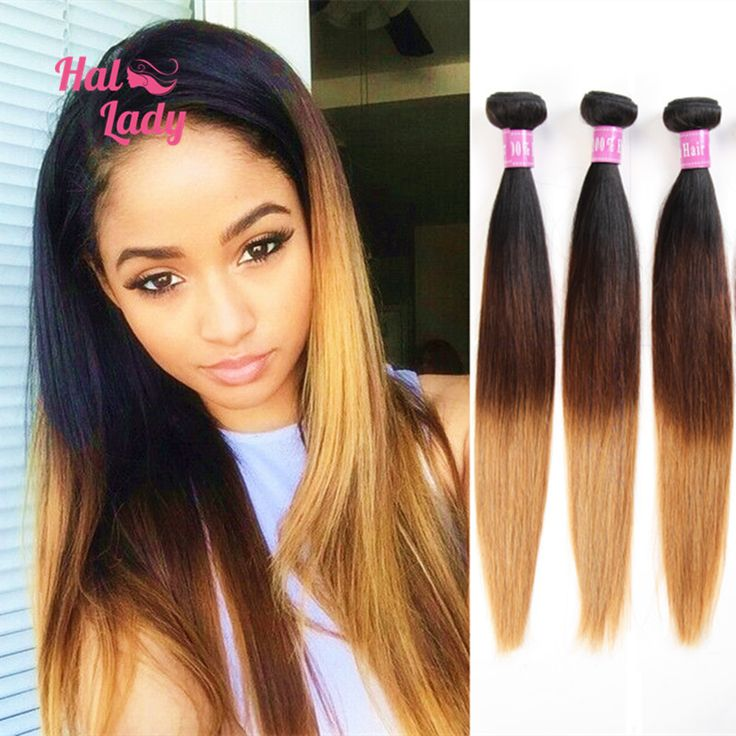 55 best blonde hair images on pinterest braids curls and hair brown ombre hair 3 three tone brazilian virgin hair weave straight lot blonde ombre human hair extensions can dye pmusecretfo Choice Image