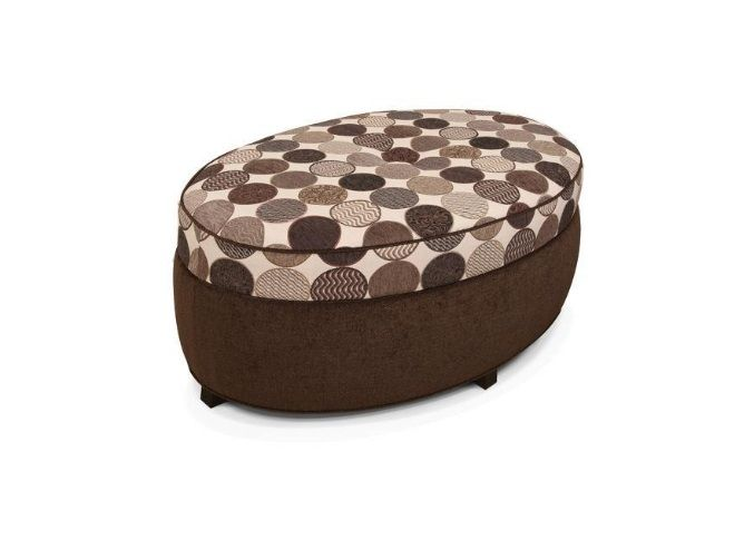 England Furniture - Are you plagued with multiple personalities? So is our Olivia ottoman. Along with its two-tone fabric design, this oval storage ottoman features a single button accent and simple exposed leg.