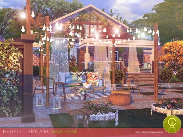 Boho Dream house by Pralinesims at TSR • Sims 4 Updates