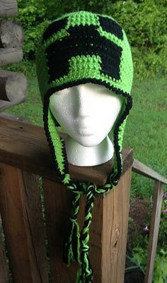 Crochet MineCraft Creeper Beanie Hat - Pattern Download