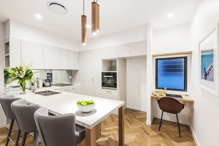 WEST END 52/24 Kurilpa Street...Dressed with Herringbone timber flooring, a sophisticated colour palette and stunning feature staircase, this homes striking presence is bound to impress all who visit.