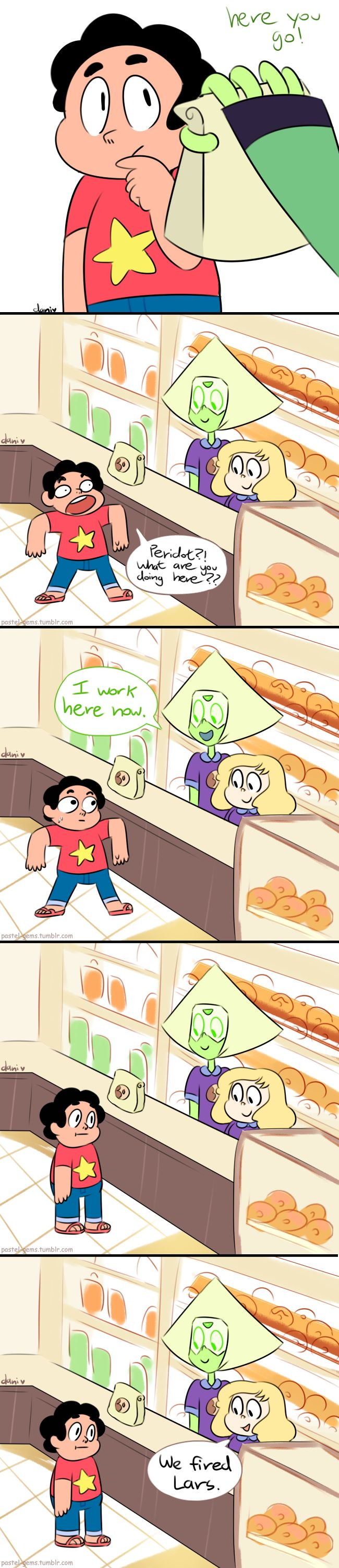 Peridot Gets A New Job by Milkii-Ways.deviantart.com on @DeviantArt