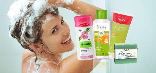Bio-Shampoo ohne Silikone: 4 empfehlenswerte Produkte (Foto: © Alliance - Fotolia.com; alverde, lavera, speick, savion)
