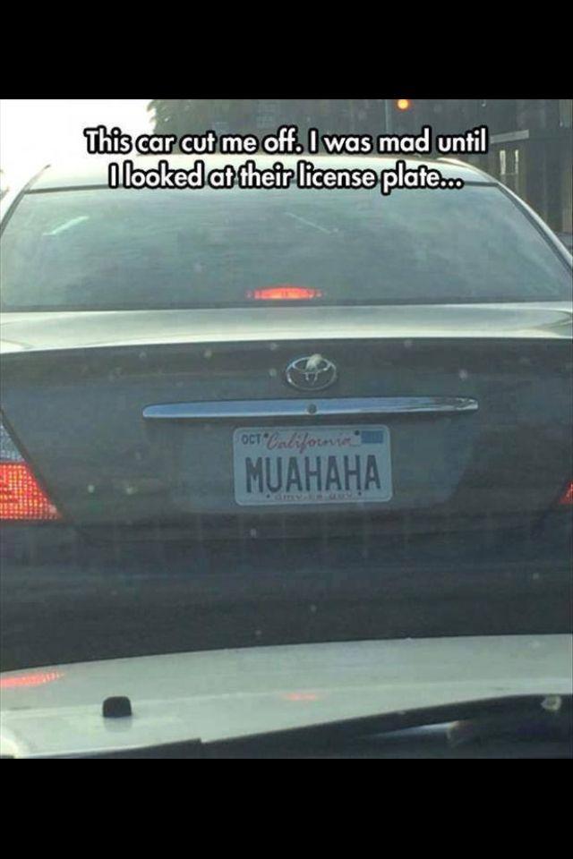 Evil number plates... Genius!