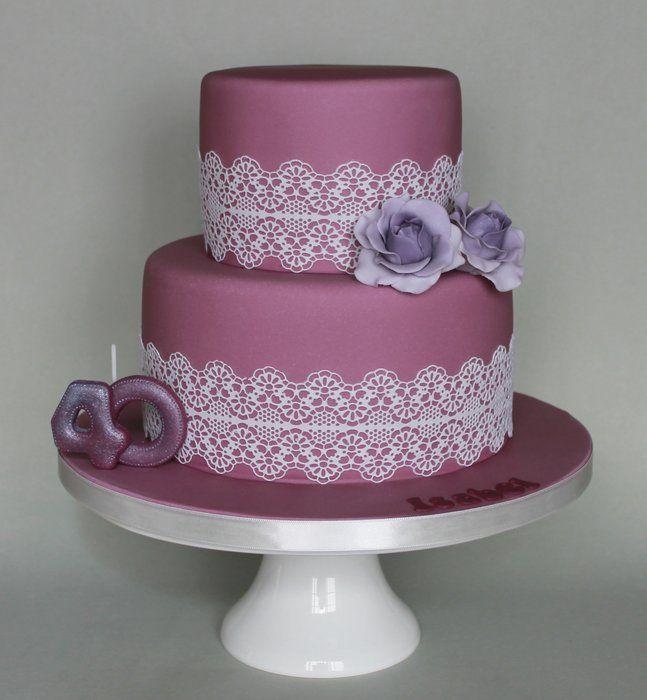 Sweet Lace Cake Decorating : Sweet Cake - by DocesExtravagantes @ CakesDecor.com - cake ...